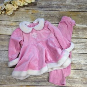 Other - Holiday Outfit Pink and White W/ Snowflake